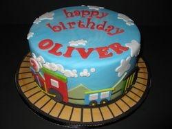 Oliver's Choo Choo Birthday Cake