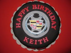 Keith's Cadillac Tire Cake