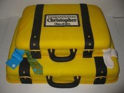 Christopher's Graduation Luggage Cake