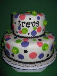 Treva's Dotted Birthday Cake