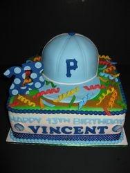 Vincent's Baseball Birthday Cake