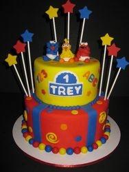 Trey's Sesame Street Birthday Cake