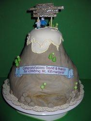 Mt. Kilimanjaro Climb Cake