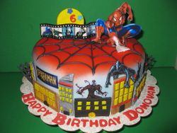 Spiderman/Comic Strip Cake