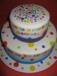 """""""Chemistry"""" 3rd Birthday Cake"""