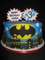 Caden's Batman Birthday Cake