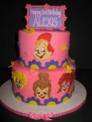 Alexis's Chipmunk 3rd Birthday Cake