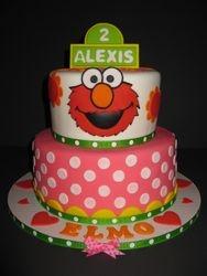 Lexi's Elmo 2nd Birthday Cake