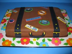 Bon Voyage Luggage Cake