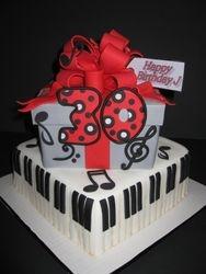Music Man/Gift Box Cake