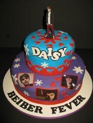 Daisy's 10th Birthday Justin Beiber Cake