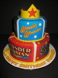 Summer's Wonder Woman Birthday Cake