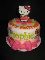 Sophie's Hello Kitty Birthday Cake