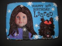 Lauren's American Girl Birthday Cake