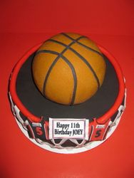 Joey's Basketball Birthday Cake