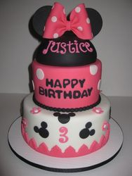 Justice's Minnie Mouse 3rd Birthday Cake