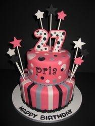 Pretty in Pink Birthday Cake
