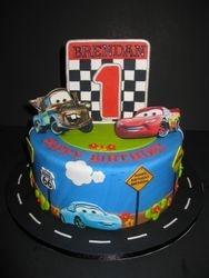 Brendan's Cars Birthday Cake