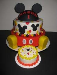 Mason's Mickey Mouse Birthday Cake & Smash Cake