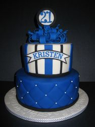 Kristen's 21st Birthday Cake