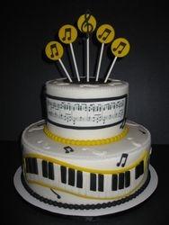 Music Themed Graduation Cake