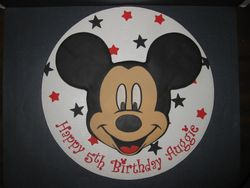 Auggie's Mickey Mouse Cake