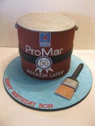 Ron's Paint Can Cake