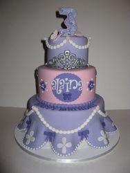 Alaina's Sofia The First Birthday Cake