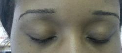 Brows after treatment