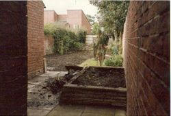 Garden tidied up and rubbish removed 1981