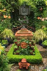 Top garden with clock