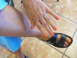Nails and pedicure by Karen