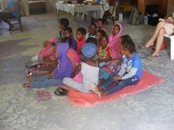 Children of the DRC Tsabong in church