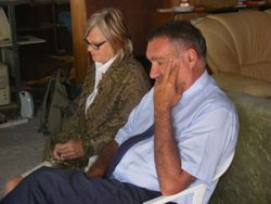 Frans and Elize during church service the Sunday Morning