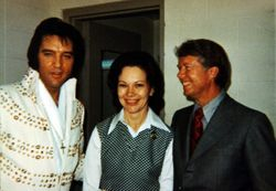 Elvis with Jimmy Carter and his wife.