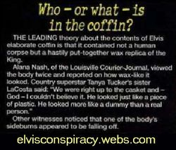 Who or what is in the coffin?