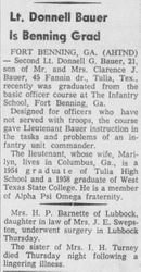 Don Bauer article from 1958