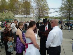 Exchanging Vows at The Bean