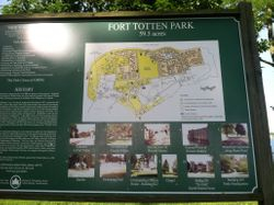 Map of Fort Totten