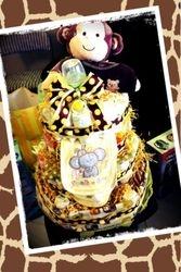 Baby's Wild Safari Diaper Cake