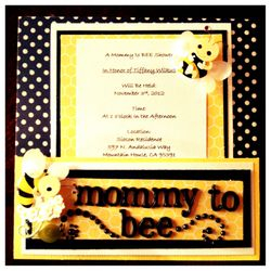 """""""Mommy to Bee"""" Invitation"""