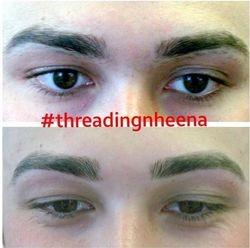 man brow threading