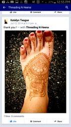 Foot henna Stain