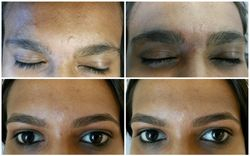 before and after eyebrow threading