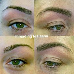 brow thickened by Threading N Heena