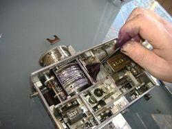 FITTING A BOBBIN TO EMPTY MACHINE 2