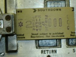SOUTHDOWN TICKET