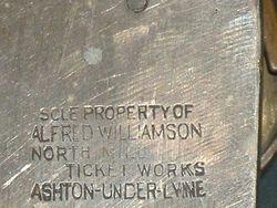 THE REAR OF WILLIAMSON MACHINE