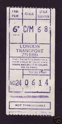 Pre decimal Gibson ticket