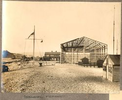 1918 Hangar under construction